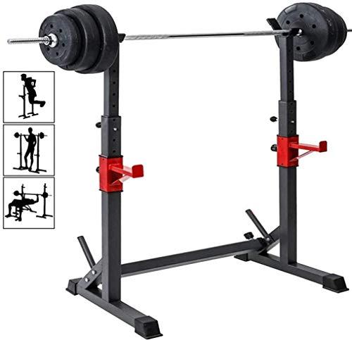 Alderman Adjustable Squat Rack Multi-Function Barbell Rack Dip Stand...