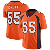 WASDQE Chubb55# Miller58# Denver Broncos Rugby T-Shirts Top brodé Maillot de Football américain-orange55-XL