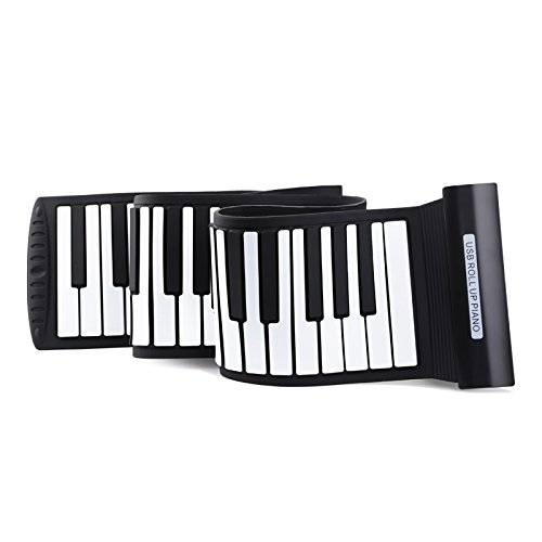 Roll Up Piano 88 keys Light Weight Electronic Keyboard Silicone Midi Electronic Musical Instruments USB Interface