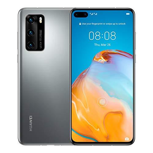 Huawei P40 5G 6.1' Dual SIM 128GB 8GB RAM (GSM Only, No CDMA) International Version - No Google Play No Warranty (Silver Frost)
