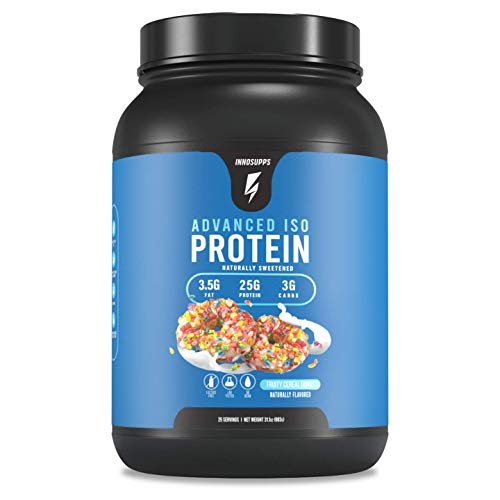 Inno Supps Advanced Iso Protein - 100% Whey Isolate Protein Powder, No Artificial Sweeteners, Low Fat, Low Carbs, 25g of Protein, Hormone Free, Gluten Free, Soy Free - (Fruity Cereal Donut)