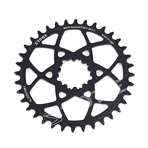 Platos Para Bicicletas MTB Bike Single Chainring 0mm Desplazamiento para BB30 32T 34T 36T 38T Monte directo Anillo de la rueda de cadena de ancho estrecho Plato Ovalado 32 Mtb ( Color : 38t black )