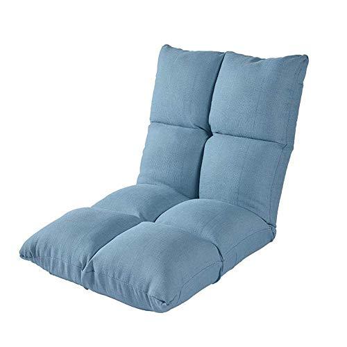 HYY-AA Cojines del asiento trasero de pequeña pista de los niños Tumbona, Silla plegable individual meditación con cubierta de tela lavable, Llazy sofá del amortiguador de asiento, 5 posición ajustabl