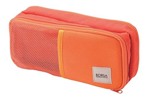 エレコム ポーチ バッグインバッグ アクセサリ/ガジェット収納 3ポケット ストレッチ素材 軽量 オレンジ BMA-GP10DR