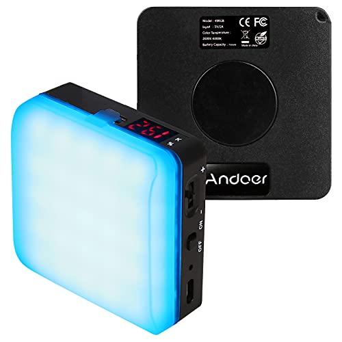 LED Videoleuchte RGB, Andoer LED...