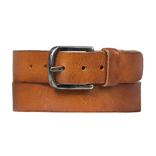 Cowboysbelt heren leren riem 401001 Cognac - maat 105