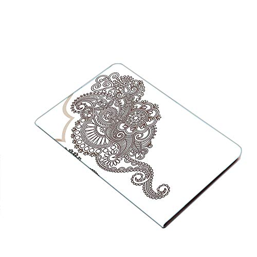 Case for iPad Air 10.5' 2019 (3rd Generation) & iPad Pro 10.5 2017,Two Identical Eastern Motif Paisley Henna Art Abstract Swirls Leaves Curlicues PU Leather Business Folio Cover,with Stand,Pocket and