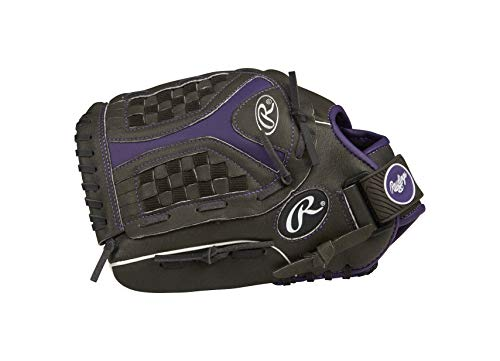 Rawlings Storm Jeugd Softbal Handschoen - 12,5 inch - Black/Purple - (Left hand Throw)