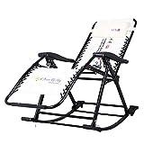 Cómoda Mecedora Relax: sillón reclinable Plegable para jardín al Aire Libre, Patio, Piscina, Patio, terraza, sillas portátiles, Soporte de 150 kg (Color: Beige)