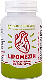 Lipomezin by Pure Care Pro High Quality All Natural Cholesterol Support Supplement Patented Formula 60 Veggie Capsules