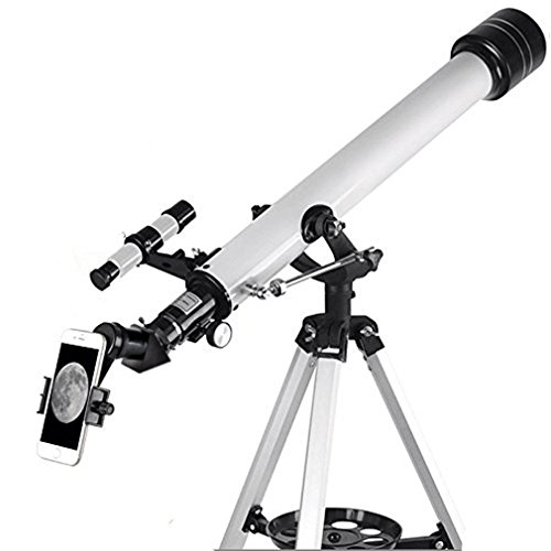 Solomark Teleskop, 60mm AZ Refraktor Teleskop mit 10mm Smartphone-Digiscoping-Adapter - Observer 60mm AZ Refraktor- und Reise-Scope-Starter-Kit