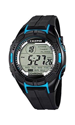 Calypso Mixte Uhr Digital Quartz mit Silicone Armband K5627/2