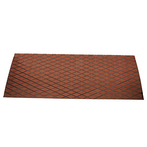 AYNEFY Boat Flooring Mat, Non-Skid Shock Absorption High Density Self-Adhesive Decking Decorative Pad for Boat Yacht, 70 x 190 cm / 27.5 x 74.8 inch(Dark Brown + Black)