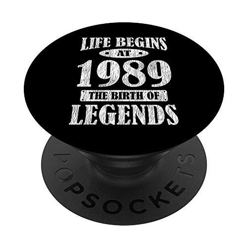 La Vida Comienza En 1989 El Nacimiento De Las Leyendas 32 PopSockets PopGrip: Agarre intercambiable para Teléfonos y Tabletas