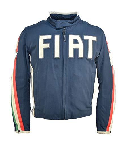 Dainese Jacke Fiat Tex Vintage Tessuto+Leder, Blau 44