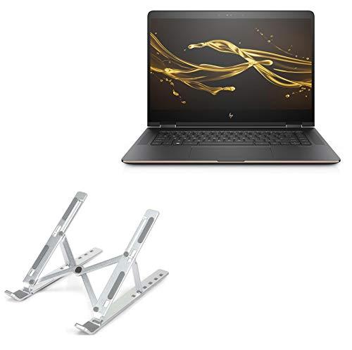 Suporte e suporte para HP Spectre x360 (15-bl075nr), BoxWave [suporte compacto para laptop QuickSwitch] portátil, suporte de visualização de vários ângulos para HP Spectre x360 (15-bl075nr) - Prata metálica