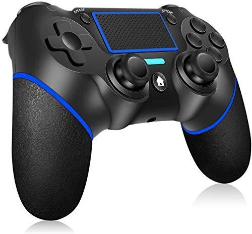 Controller per PS4, RegeMoudal Controller Wireless per PS4 PS4 Slim PS4 Pro PC Doppio Vibrazione di Gioco Controller TouchPad e Audio Jack Bluetooth Gamepad Joystick Controller per Playstation 4