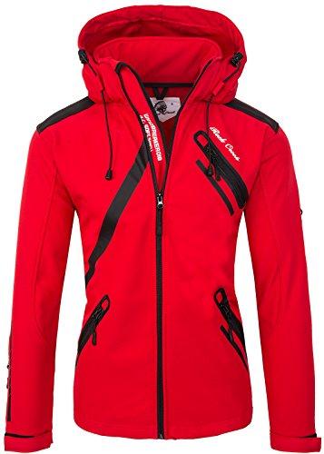 Rock Creek Herren Softshell Jacke Outdoor Regenjacke Softshelljacke Windbreaker Laufjacke Wanderjacke Funktions Sport Jacken H-127 Red XXL