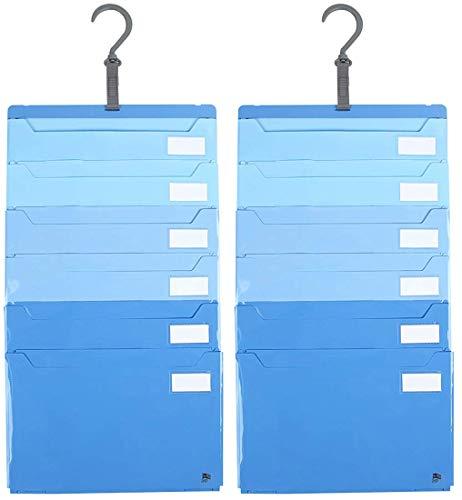 JIT ポケット ファイル A4 6ポケット ブルー 仕分け上手 壁掛け・たためる2way仕様 ×10 セット