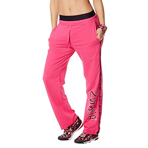 Zumba Fitness Damen WB Jammin Jersey Pants, Berry, S