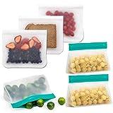 Bolsas de Silicona Reutilizables 6 Pack, Bolsas Reutilizables Alimentos para Almacenamiento de Alimentos, Bolsas de Congelación de Silicona para Fruta Verduras Carne Cocina Hogar y Viajes