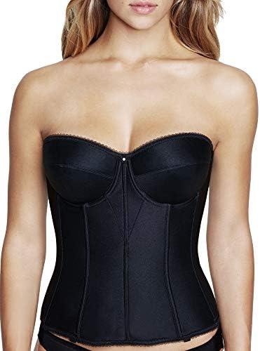 Dominique Juliette Longline Corset Full Length Bridal Bra with Garters Blk 46DD E Black product image