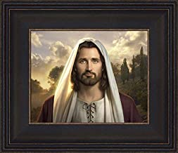 Simon Dewey I Am 12x14 Framed Strata Design- Portrait of Jesus Christ