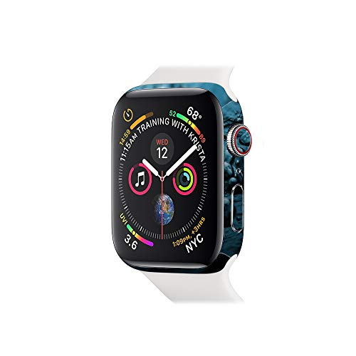 MightySkins Skin Compatible with Apple Watch Series 4 & 5 & 6 44mm - Blue Storm Protective, Durable, and Unique Vinyl Decal wrap Cover Easy to Apply, Remove, and Change Styles Made in The USA