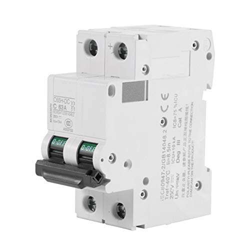 Protección contra cortocircuitos Disyuntor de bajo voltaje 2P Disyuntor de aire Interruptor de energía solar de carril DIN para sistema híbrido solar 16A / 32A / 63A(63A)