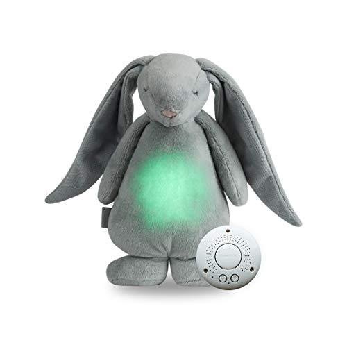 MOONIE Summendes Spielzeug mit weißen & rosa Rauschen | Baby Nachtlicht Einschlafhilfe | USB Wiederaufladbar Beruhigende Sound Bettdecke mit Schlafse