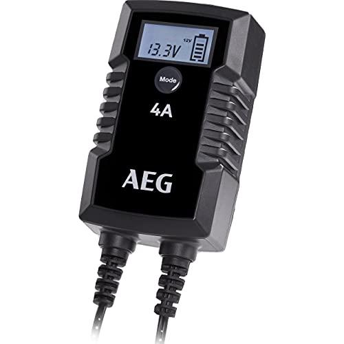 AEG Automotive 10616 Mikroprozessor-Ladegerät für Auto Batterie LD 4.0, 4 Ampere für 6/12 V, 7-HF Ladestufen, Autostartfunktion, Komfortanschluss