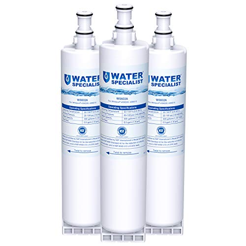 Waterspecialist 4396508 Refrigerator Water Filter, Replacement for Whirlpool EDR5RXD1, EveryDrop Filter 5, PUR W10186668, 4396510, 4396508P, 4392857, Kenmore 46-9010 (Pack of 3)
