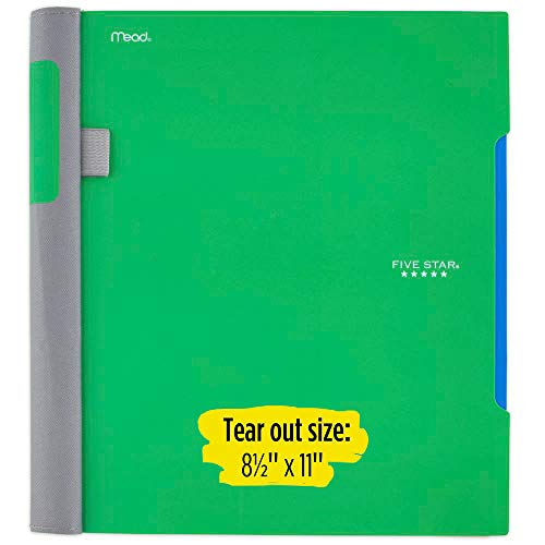 Five Star Advance Spiral Notebook, 1 Subject, College Ruled Paper, 100 Sheets, 11 x 8-1/2 inches, Green (72884) Photo #3