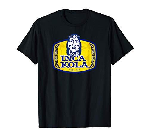Inca Kola Amarillo Azul Unisex Refresco Soda Logo Perú 1935 Camiseta