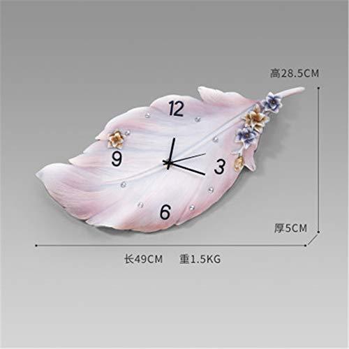 Wandklok creatieve wandklok decoratieve extravagantie vederlicht hangende tafel minimalistisch modern home fashion,Pink