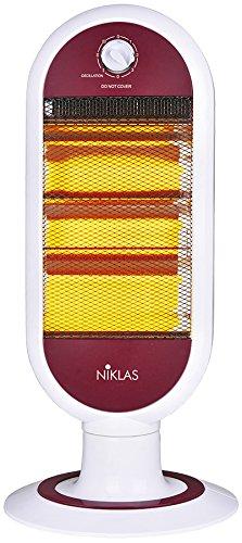 KEKAI KT0588 Calefactor eléctrico halógeno 38x27x57 cm, Rojo, 400/800/1200 W