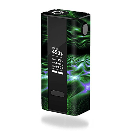 MightySkins Skin Compatible with Joyetech Cuboid 150W TC – Green Waves | Protective, Durable, and Unique Vinyl Decal wrap Cover | Easy to Apply, Remove, and Change Styles | Made in The USA