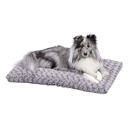 Plush Dog Bed | Ombré Swirl Dog Bed & Cat Bed | Gray 29L x 21W x 2H...