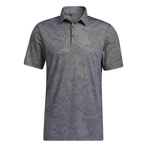 adidas Golf Mens Camo Polo Shirt BlackGrey Three XL