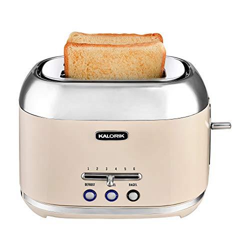 Kalorik 2-Slice Retro Toaster (Cream)