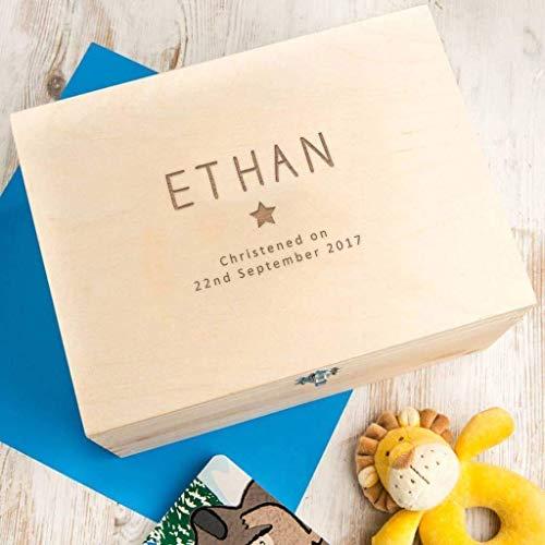 Erinnerungsbox Baby Mädchen personalisiert, Geschenk für Taufe Mädchen, Patenkind Geschenk, Babys erstes Weihnachten - 2