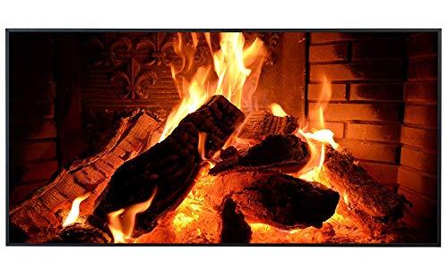 Ecowelle Infrarotheizung mit Bild | 750 Watt | 60x120 cm | Infrarot Heizung| | Made in Germany| i 4 Kaminfeuer