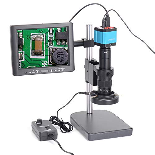 HAYEAR Full Set 14MP Industrial Digital Microscope Camera HDMI USB Outputs with 180X and 300X C-Mount Lens