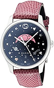 Gucci G-Timeless Black Moonphase Dial Ladies Watch