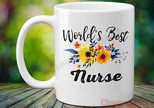 Worlds Best School - Taza de café para enfermera, preceptor, regalo para la escuela, enfermera, taza de café preceptor de agradecimiento