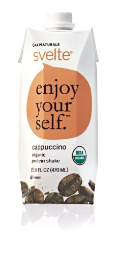 CalNaturale Svelte Organic Protein Shake, Cappuccino, 15.9 Ounce (Pack of 6)