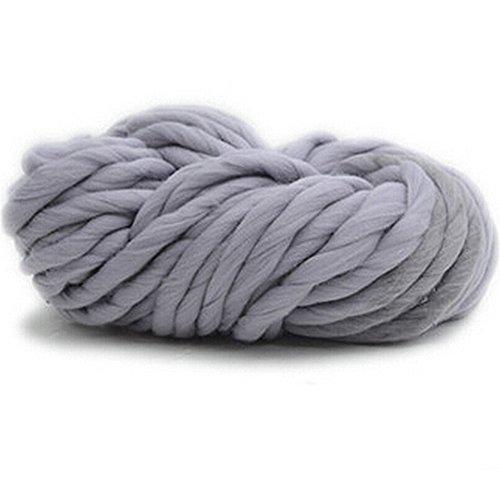 Bluelans® - Pelote de laine à tricoter très douce, fil épais, 250 g, 100 % acrylique gris