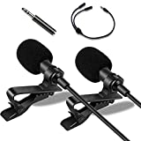 MOVOYEE Lavalier Microphone for iPhone Microphone Lapel Microphone Recording DSLR Camera Video Android YouTube Vlogging Audio Interview,Professional Omnidirectional Condenser Mic System Clip