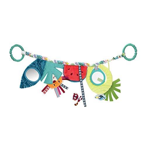 Lilliputiens 83017 Aktivitätsspielzeug Babytrage / Kinderwagen Spielzeug für Babys, Design Georges, der Lemur, Maße: 46 x 15 x 2 cm, ab 0 Monaten