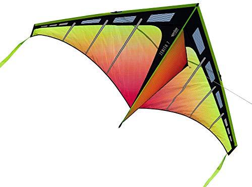 Prism Kite Technology Zenith 7 Infrarot Single Line Drachen Ready to Fly mit Schnur, Kurbel und Reisetasche